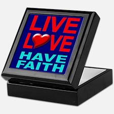 Live Love Have Faith Keepsake Box (navy)