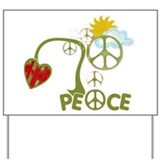 Peace Sign Abstract Anti War Yard Sign