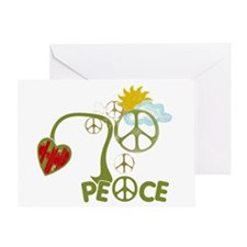 Peace Sign Abstract Anti War Greeting Card