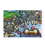 Pug Birthday bash Postcards (Package of 8)