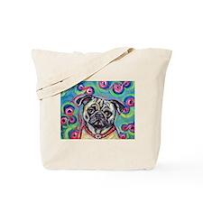 adorable pug bubbles Tote Bag