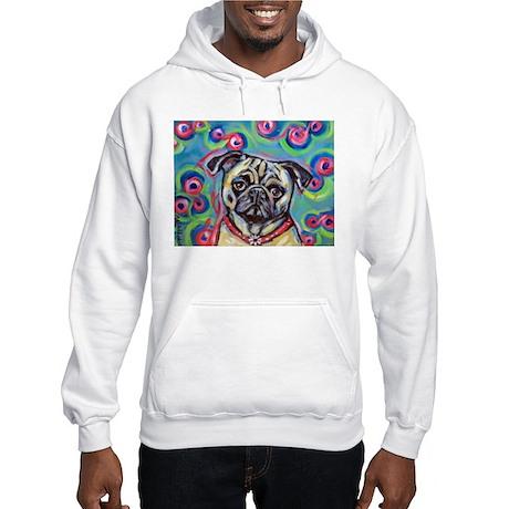 adorable pug bubbles Hooded Sweatshirt
