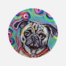 "adorable pug bubbles 3.5"" Button"