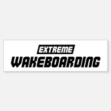 Extreme Wakeboarding Bumper Car Car Sticker