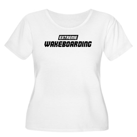 Extreme Wakeboarding Women's Plus Size Scoop Neck