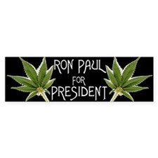 Ron Paul Marijuana Bumper Sticker!