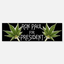 Ron Paul Marijuana Bumper Sticker!