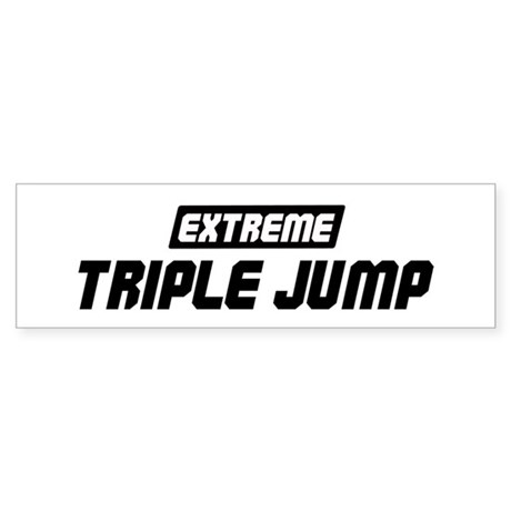 Extreme Triple Jump Bumper Sticker