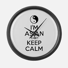 Im Asian I Cant Keep Calm Large Wall Clock