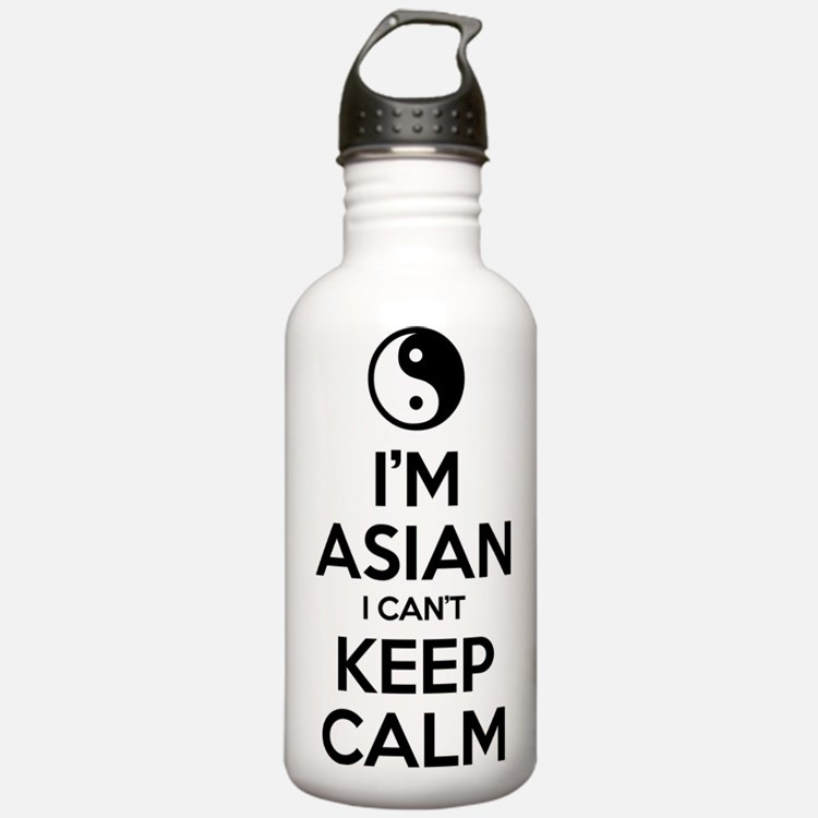 Im Asian I Cant Keep Calm Sports Water Bottle