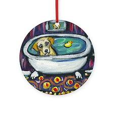 Yellow lab bath Ornament (Round)