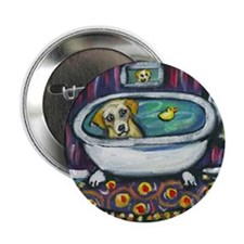 "Yellow lab bath 2.25"" Button"