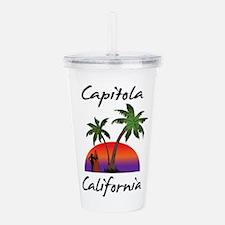 Capitola California Acrylic Double-wall Tumbler