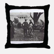 White House Lawn Throw Pillow