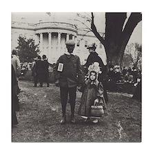 White House Lawn Tile Coaster