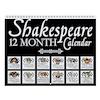 Shakespeare Theatrical Masks Wall Calendar