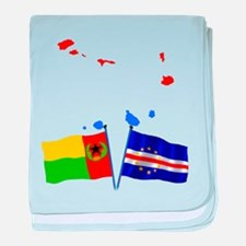 Cabo Verde Flags baby blanket