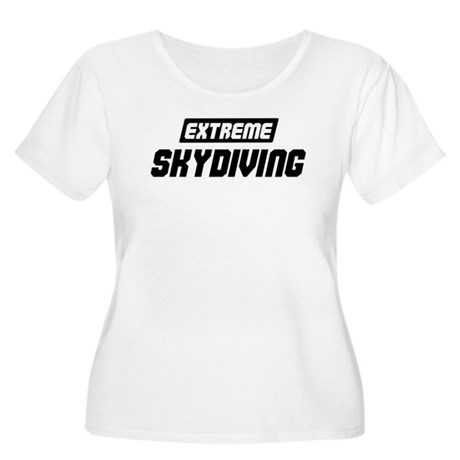 Extreme Skydiving Women's Plus Size Scoop Neck T-S