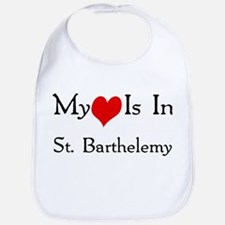 My Heart Is In St. Barthelemy Bib