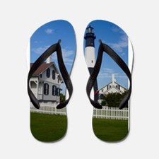 Tybee Island Lighthouse and Fence Flip Flops