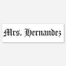 Mrs. Hernandez Bumper Bumper Bumper Sticker