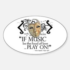 Twelfth Night Oval Decal