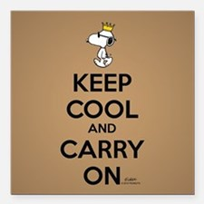 "Snoopy - Keep Cool Full Square Car Magnet 3"" x 3"""