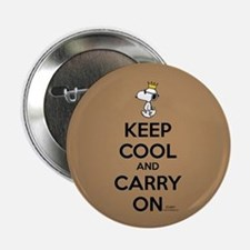 """Snoopy - Keep Cool Full Bleed 2.25"""" Button"""