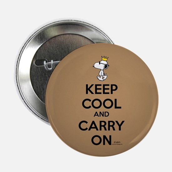"Snoopy - Keep Cool Full Bleed 2.25"" Button"