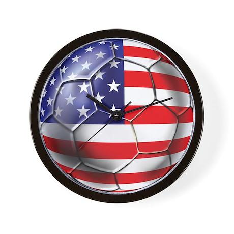 U.S. Soccer Ball Wall Clock