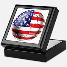 U.S. Soccer Ball Keepsake Box