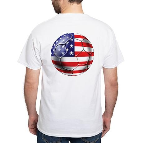 U.S. Soccer Ball White T-Shirt