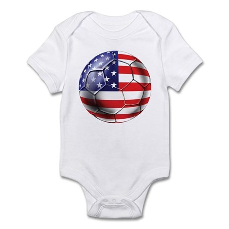 U.S. Soccer Ball Infant Bodysuit