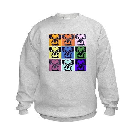 Border Terrier Pop Art Kids Sweatshirt