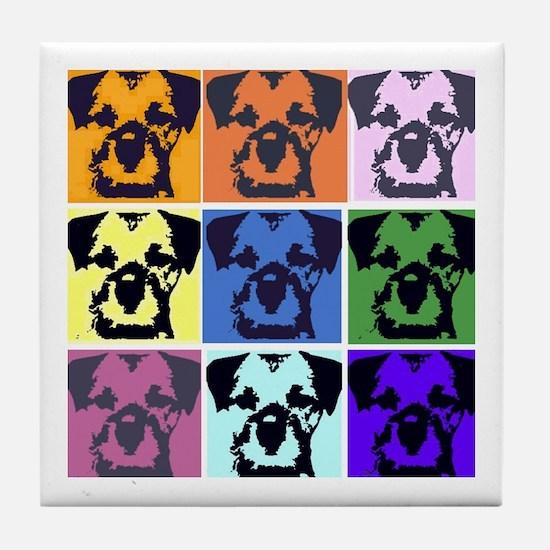 Border Terrier Pop Art Tile Coaster
