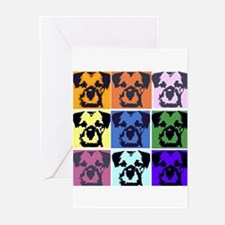 Border Terrier Pop Art Greeting Cards (Pk of 10)