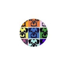 Border Terrier Pop Art Mini Button (10 pack)