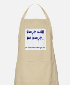 Boys will be boys... BBQ Apron