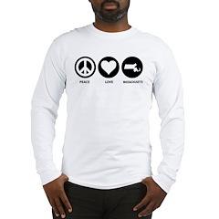 Peace Love Massachusetts Long Sleeve T-Shirt