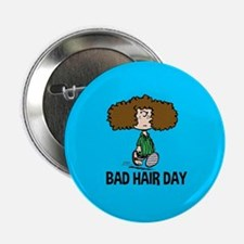 "Peppermint Patty Bad Hair Day 2.25"" Button"