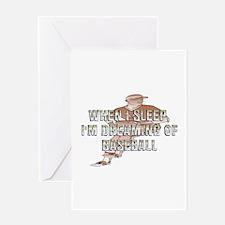TOP Baseball Dreams Greeting Card