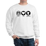Peace Love Minnesota Sweatshirt