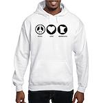 Peace Love Minnesota Hooded Sweatshirt