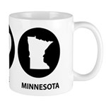 Peace Love Minnesota Mug