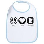 Peace Love Minnesota Bib