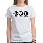 Peace Love Minnesota Women's T-Shirt
