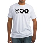 Peace Love Minnesota Fitted T-Shirt
