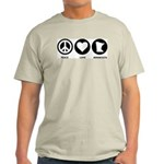 Peace Love Minnesota Light T-Shirt