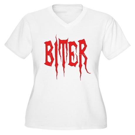Biter Women's Plus Size V-Neck T-Shirt