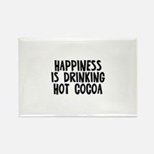 Happiness is drinking hot coc Rectangle Magnet